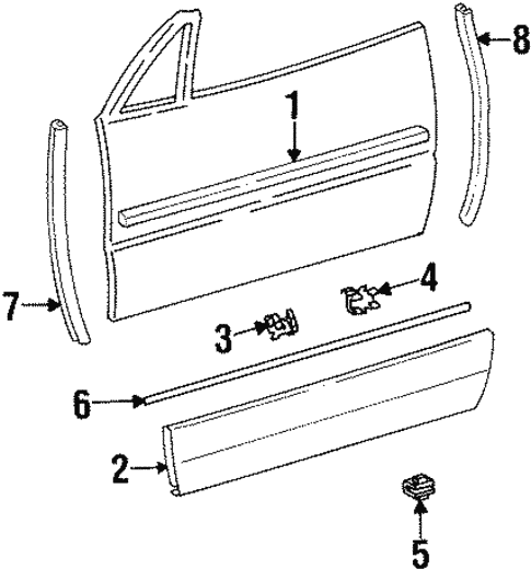 Exterior Trim - Door for 1998 Mercedes-Benz SL 500 #0