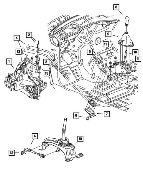 dodge neon engine parts diagram gearshift controls for 2004 dodge neon thomas dodge parts  gearshift controls for 2004 dodge neon