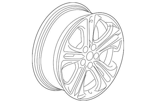 2016 2018 Chevrolet Cruze Wheel Alloy 13383414