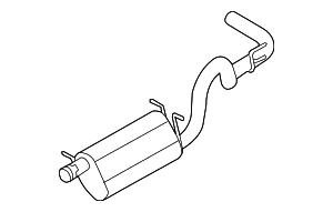 Muffler & Pipe - Ford (9C2Z-5230-A)