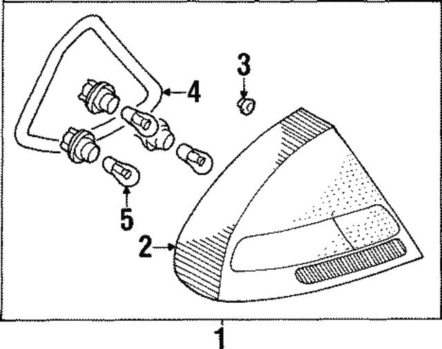 Mitsubishi Combo Lamp Assembly Mr414890