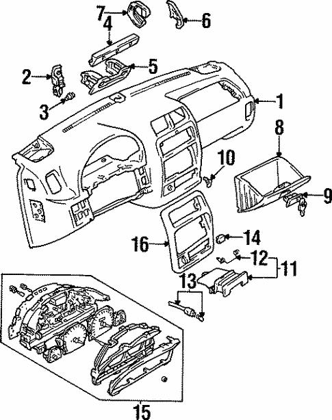 Instrument Panel For 1998 Chevrolet Tracker