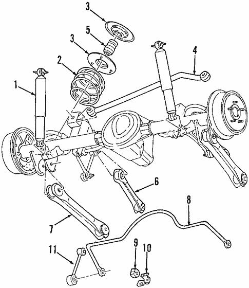 Rear Suspension For 2000 Jeep Cherokee