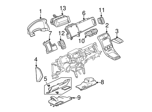 Instrument Panel Components For 2005 Chevrolet Equinox