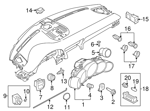2007 2018 Porsche 911 Park Lamp Bulb 999 631 040 90