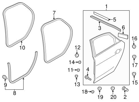 Door Components For 2016 Audi A8 Quattro