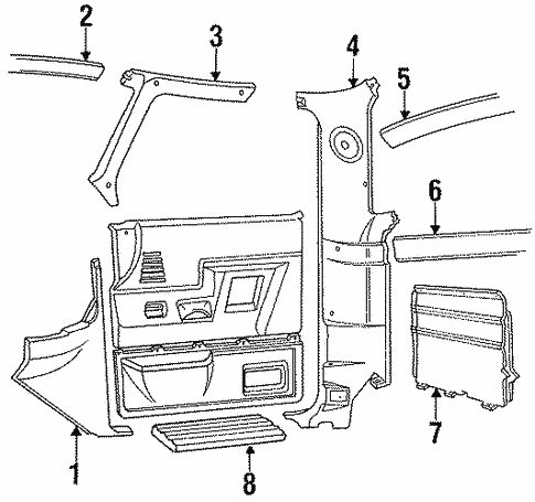 Body/Interior Trim - Cab for 1997 Ford F-350 #2