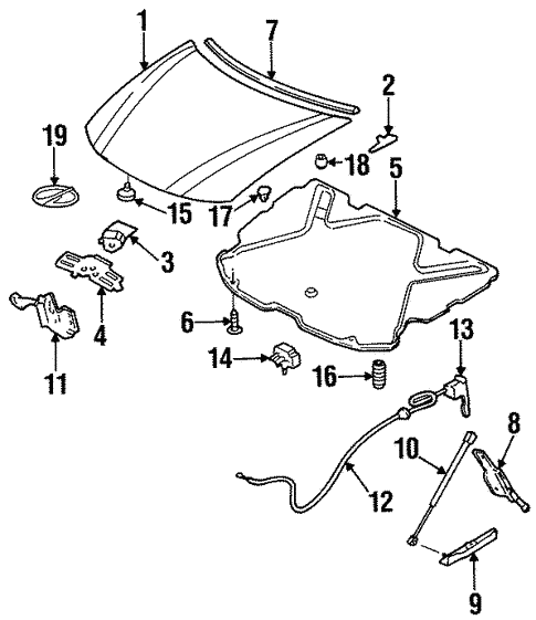 2000 Oldsmobile Intrigue Hood Diagram