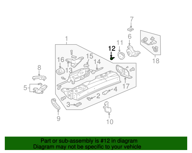 Catcher, Rear Cover (When Roof Removed) - Acura (85039-SL0-T00)