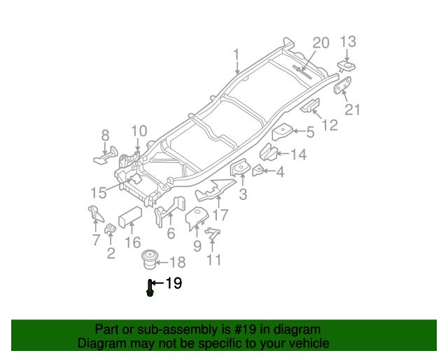 Genuine Nissan Insulator Bolt 95516-1PA0A