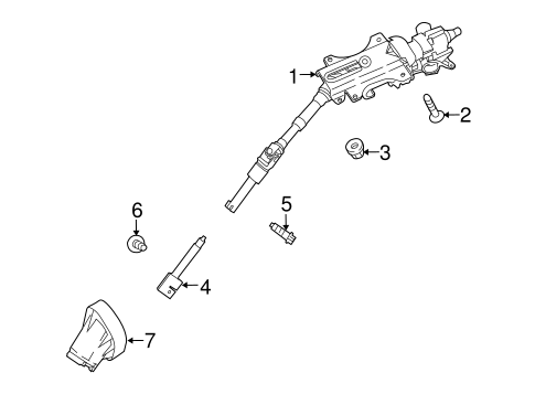 Steering/Steering Column Assembly for 2013 Ford Transit Connect #1