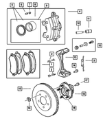 Front Disc Brake Pad Kit - Mopar (5019804AA)