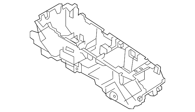 Ford Taurus Black Console Base Support Bracket