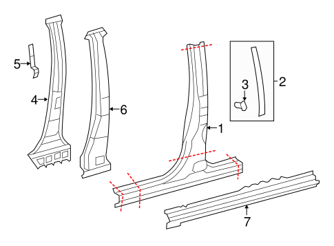 BODY/CENTER PILLAR & ROCKER for 2015 Toyota Tundra #2
