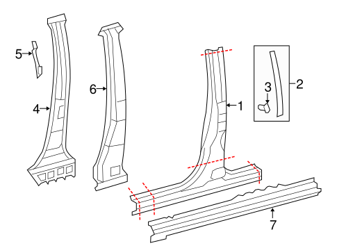 BODY/CENTER PILLAR & ROCKER for 2014 Toyota Tundra #1