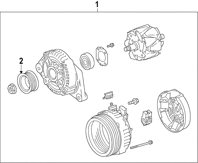 Alternator - Toyota (27060-0P410)
