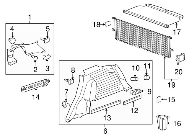 genuine chevrolet captiva sport cargo net retainer