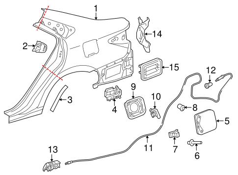 Fuel Door For 2015 Toyota Camry