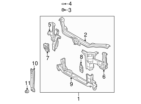 BODY/RADIATOR SUPPORT for 1998 Toyota Sienna #1