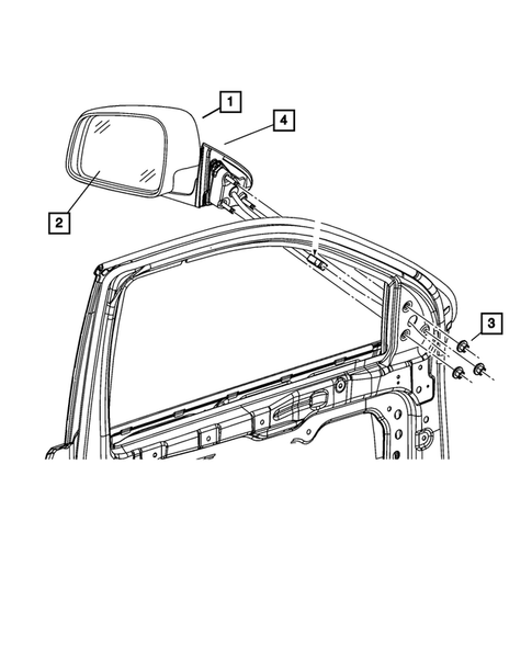 Exterior Mirror for 2017 Jeep Grand Cherokee #0