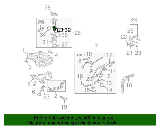 fuel pressure regulator - gm (88974776)