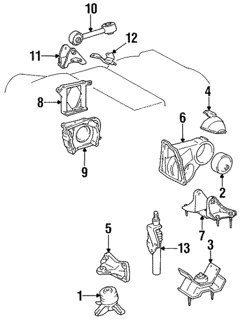 Engine Trans Mounting For 1998 Toyota Avalon