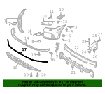Front Bumper Lower Molding SQ5 - Audi (80A-853-765-RN4)