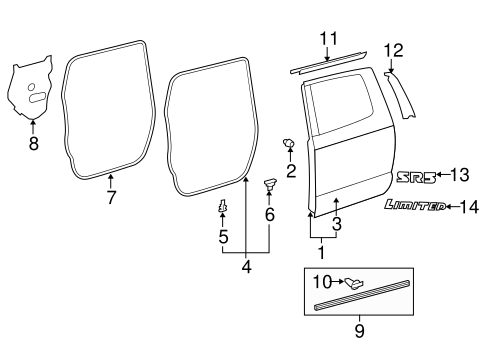 Door & Components for 2015 Toyota Tundra #1