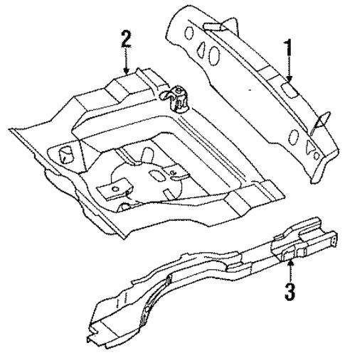 Rear Body For 1988 Nissan Sentra