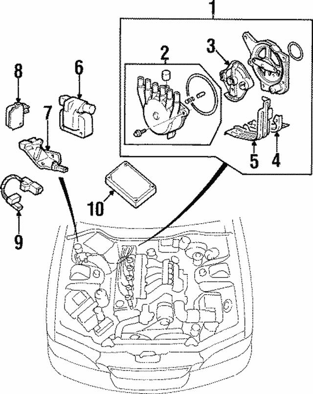 1995 1998 Acura Tl Sedan Head Rotor 30103 P1r A01