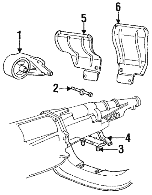 Engine Trans Mounting For 2001 Dodge Ram 1500