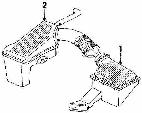 Air Intake For 1996 Chrysler Sebring