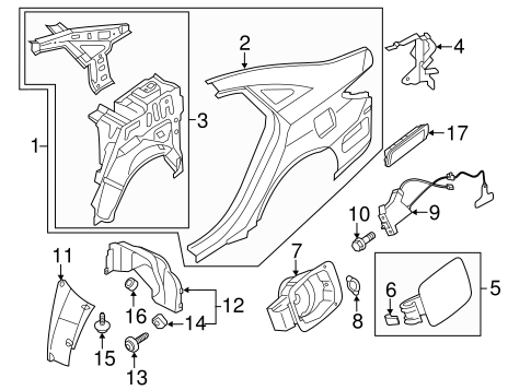 Sonata Bodyquarter Panel Components Parts