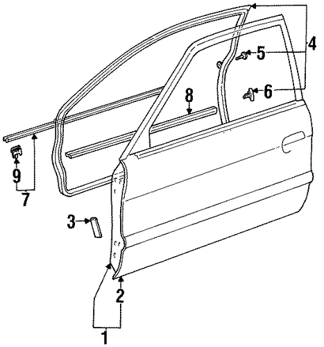 BODY/DOOR & COMPONENTS for 1997 Toyota Tercel #3