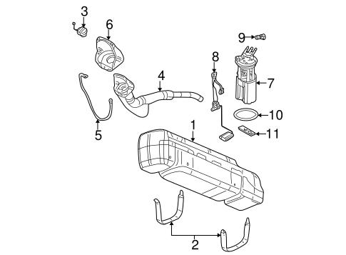 Fuel Pump For 2000-05 Chevrolet Astro Module Assembly Gas w// Sending Unit