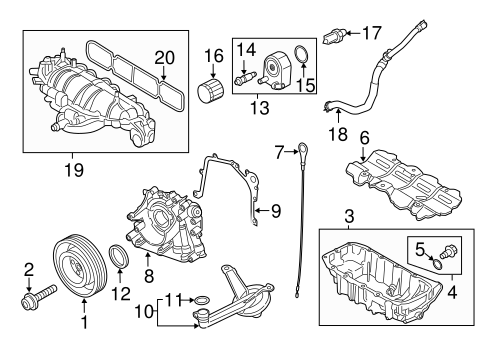Engine Parts For 2014 Ford Escape