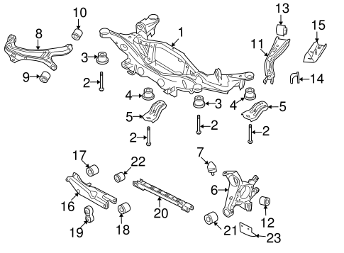 Rear Suspension/Rear Suspension for 2009 Ford Taurus #2