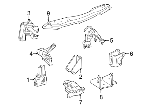 [GJFJ_338]  Engine & Trans Mounting for 2003 Toyota Celica | Toyota Parts Center | 2001 Celica Engine Diagram |  | Olathe Toyota Parts Center
