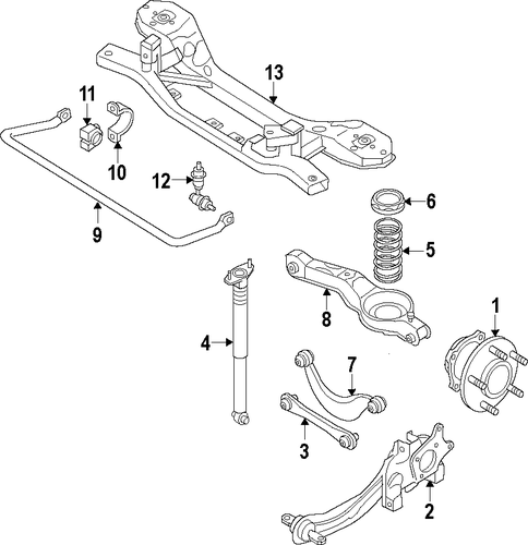Genuine Oem Rear Suspension Mounting Parts For 1990 Toyota: Rear Suspension For 2014 Ford C-Max