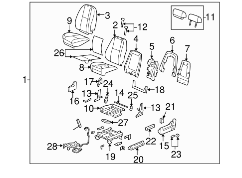 2011 Chevy Silverado Body Parts Diagram