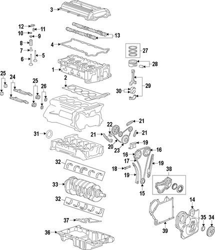 oem 2008 chevrolet hhr engine parts