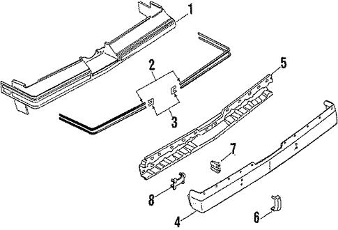 Rear Bumper For 1986 Oldsmobile Cutlass Salon Gm Parts Online