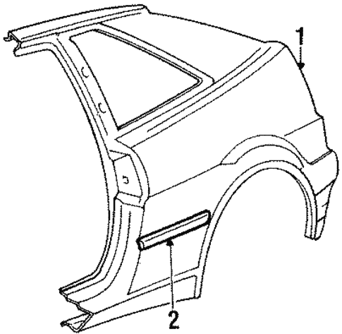 Quarter Panel & Components for 1991 Volkswagen Corrado #0