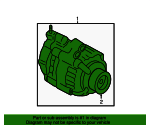 Alternator Assembly (AHGA87) (Mitsubishi)