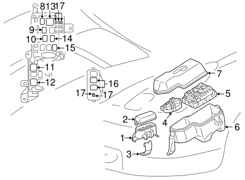 ELECTRICAL/ELECTRICAL COMPONENTS for 2000 Toyota Celica #1