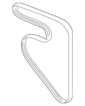 Serpentine Belt - Subaru (23780AA08A)
