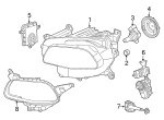 Headlamp Assembly - Mopar (68206660AG)