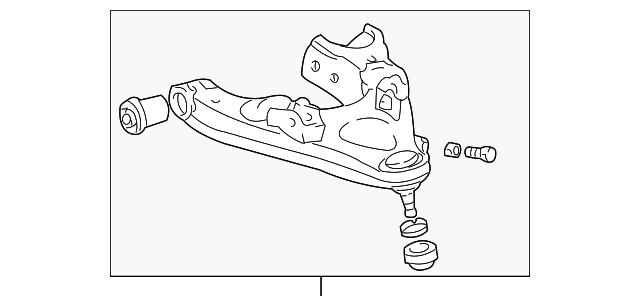 genuine toyota lower control arm 48620