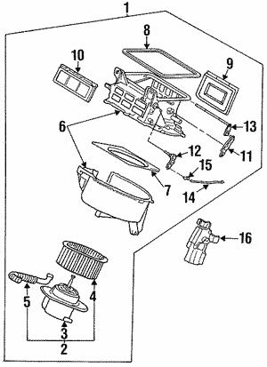 Blower Motor Fan For 1996 Subaru Svx