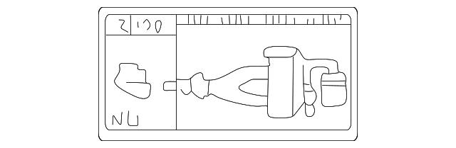 vacuum diagram - lexus (17792-46110)